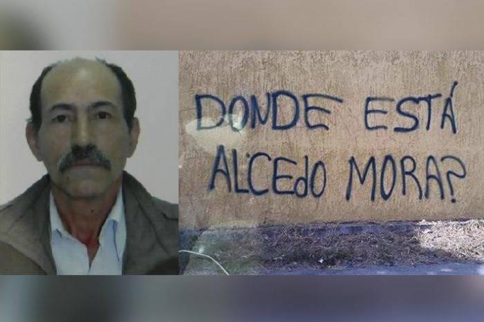 Alcedo Mora desaparecido