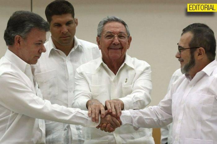 Proceso de paz Colombia Editorial