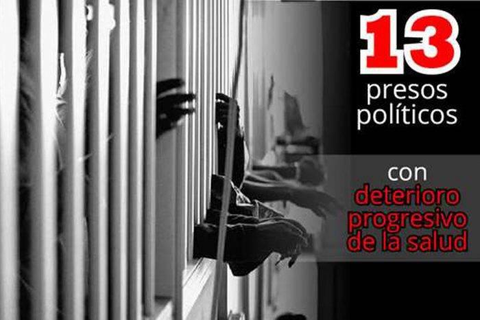 Foro Penal Venezolano: 13 presos políticos presentan grave estado de salud