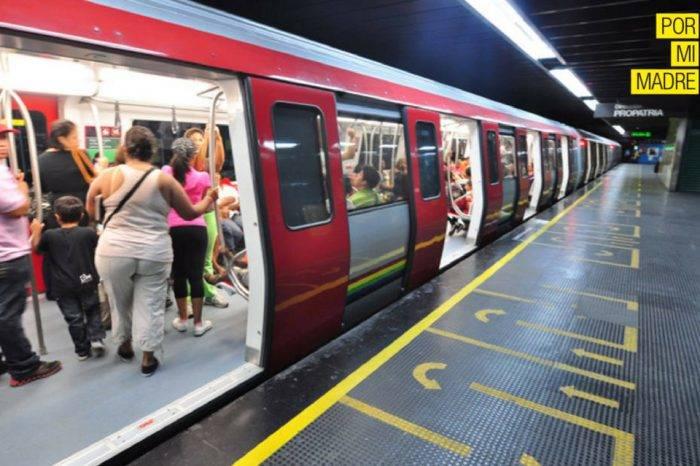 Estampida dentro de un tren del Metro de Caracas