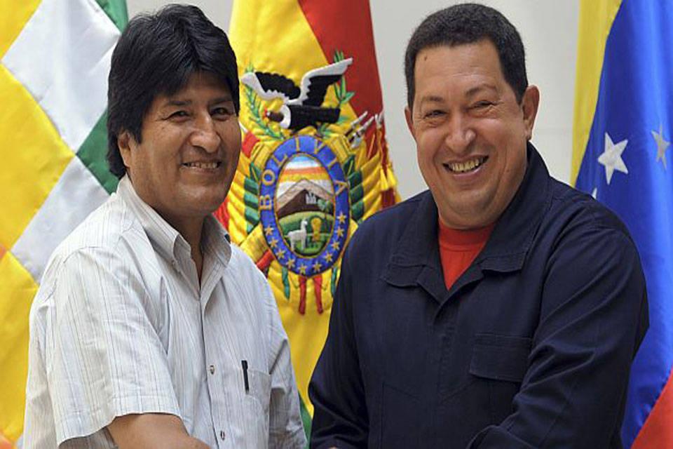 Evo Morales y Hugo Chavez