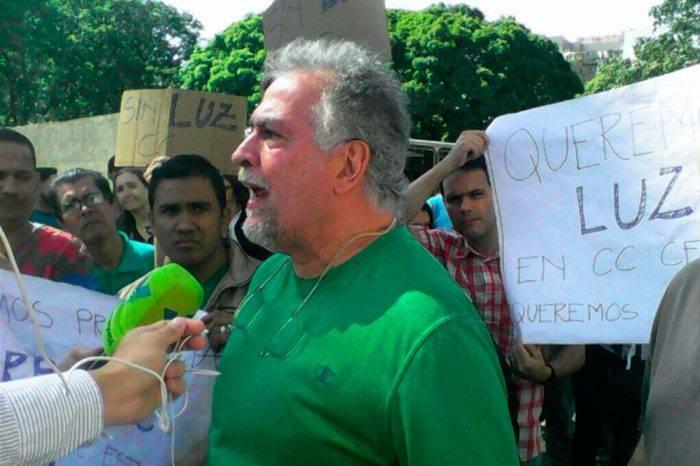 Trabajadores de Centro Plaza protestan por las constantes fallas eléctricas