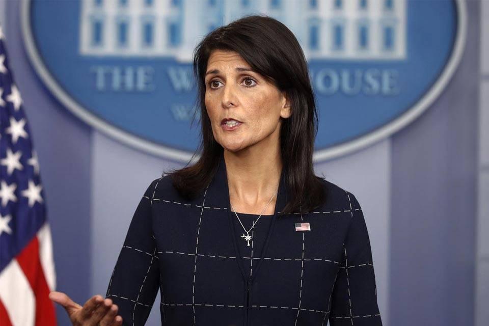 Nikky Halley Embajadora ONU EEUU