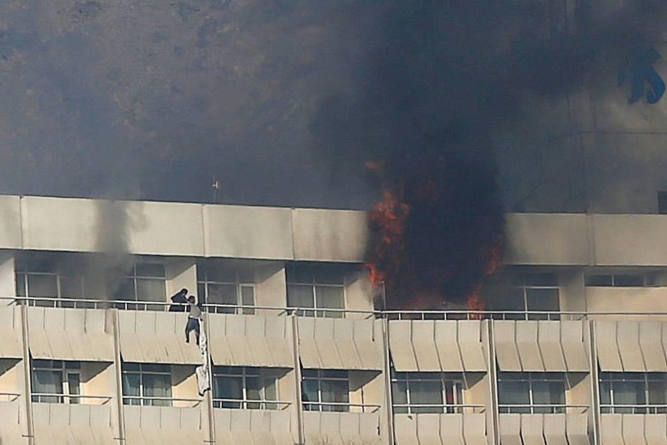 Atentado talibán hotel Kabul enero 2018