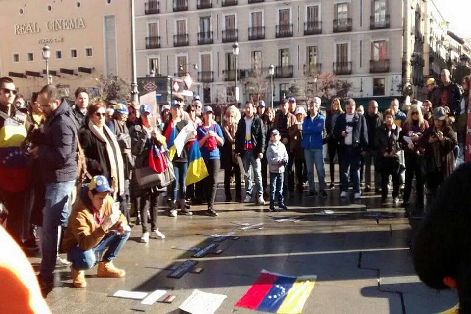 Venezolanos en Madrid Protesta enero 2018