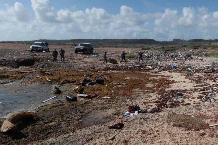 Lugar donde aparecieron restos de la lancha siniestrada
