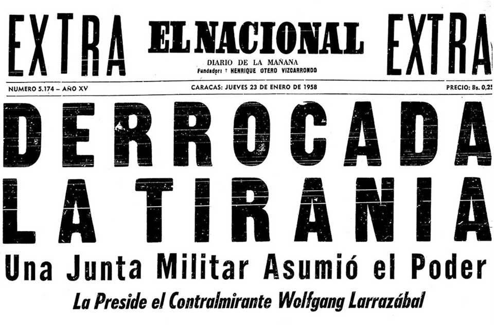 """Las """"mentiras podridas"""" del 23 de enero de 1958"""