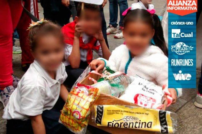 """Carnaval de los escolares caraqueños se """"disfrazó"""" de Clap, Misión Vivienda y Canaimitas"""