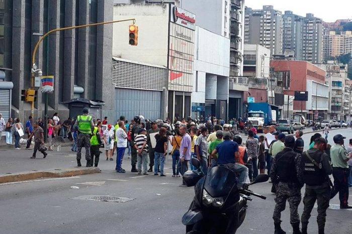 Protesta en la Avenida Baralt