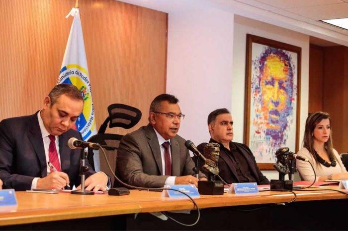 Néstor Reverol Tarek William Saab Maikel Moreno Susana Barreiros