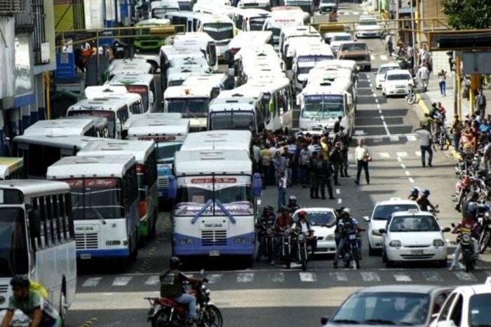 El cangrejo del transporte público en Caracas