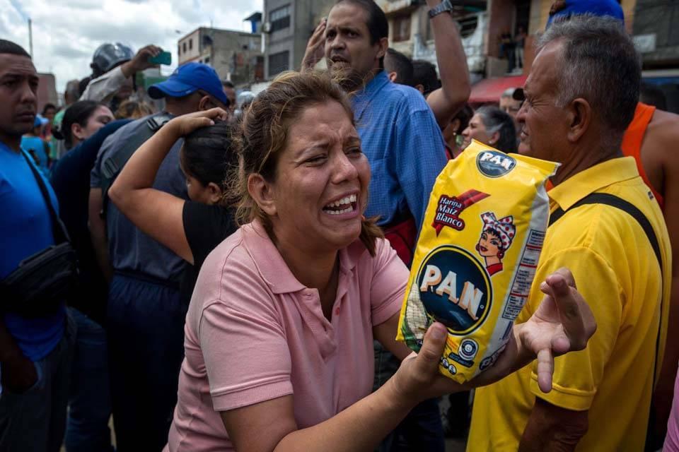 Protesta por escasez de alimentos