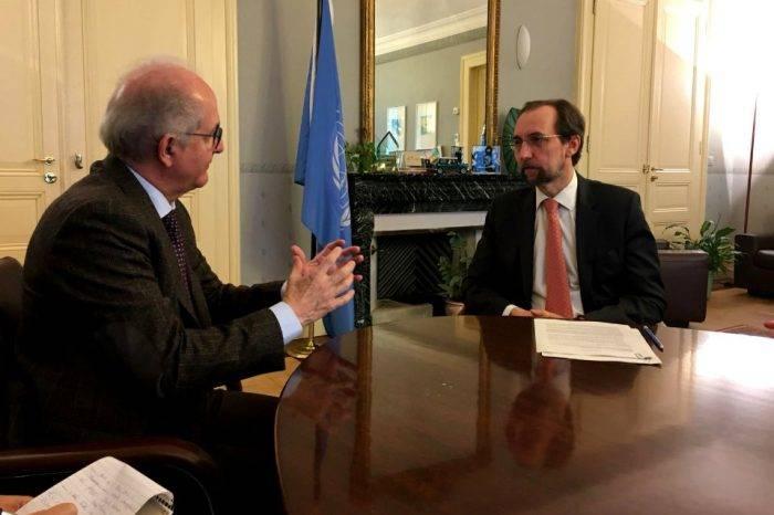 """Ledezma pide a Comisionado de la ONU ayuda humanitaria ante """"genocidio"""" en el país"""