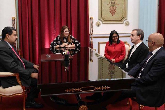 Reunión entre Maduro y Rodríguez Zapatero en Miraflores fue de puras sonrisas