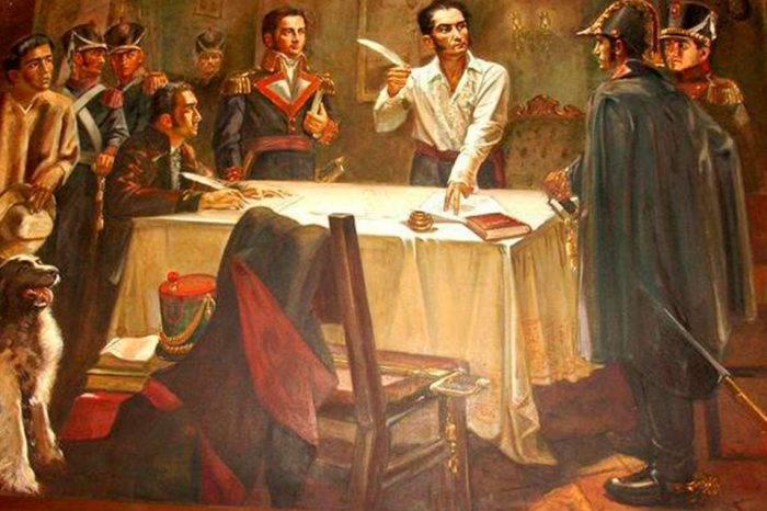 Simón Bolívar Decreto de guerra a muerte