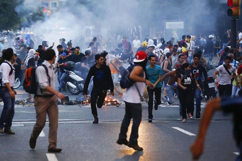 Disturbios en el centro de Caracas el 12 de febrero de 2014
