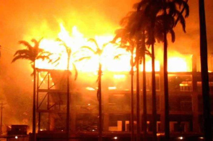 Bomberos de Lara apagaron incendio con cisternas por falta de cauchos