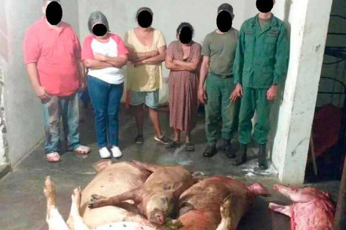 Capturan a un capitán y un sargento del Ejército con dos vacas y cuatro cochinos robados
