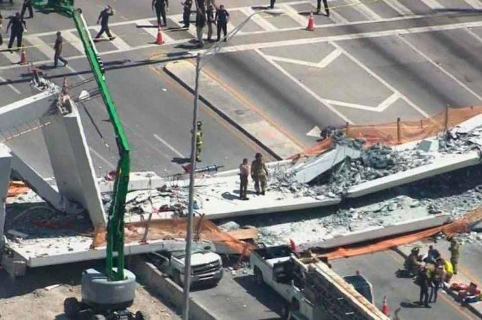 Al menos 4 muertos deja el colapso de un puente peatonal en la universidad de Florida