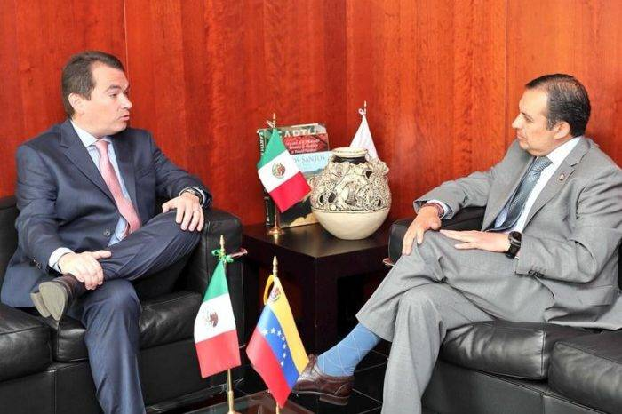 Tomás Guanipa se reunió con el presidente del senado de México Ernesto Cordero