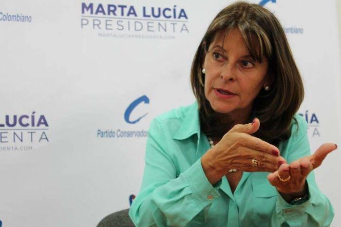 Martha Lucía Ramírez candidata presidencial Colombia