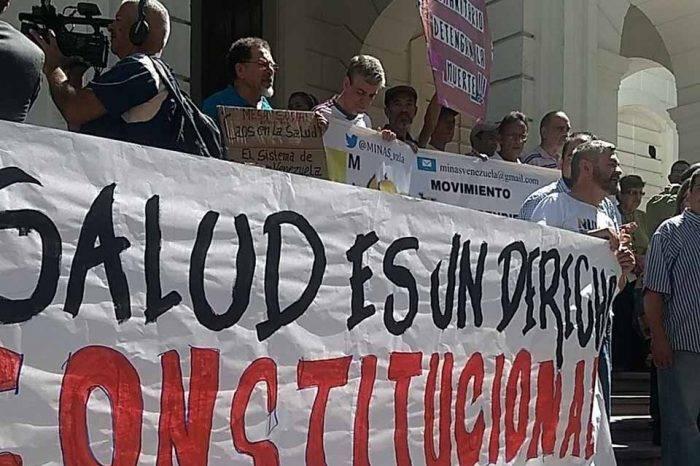 Organizaciones salud protesta