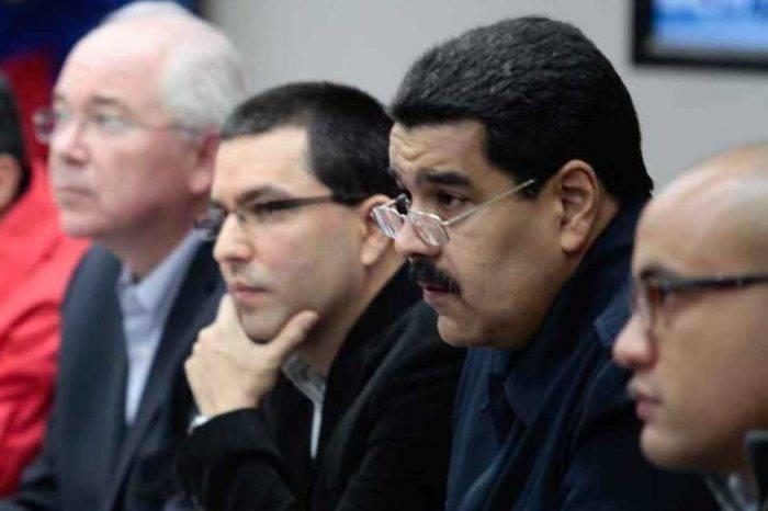 Jorge Arreaza Nicolás Maduro Rafael Ramírez Héctor Rodríguez