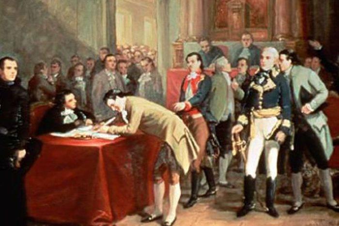 Firma del acta de independencia. Foto: Curiosidades