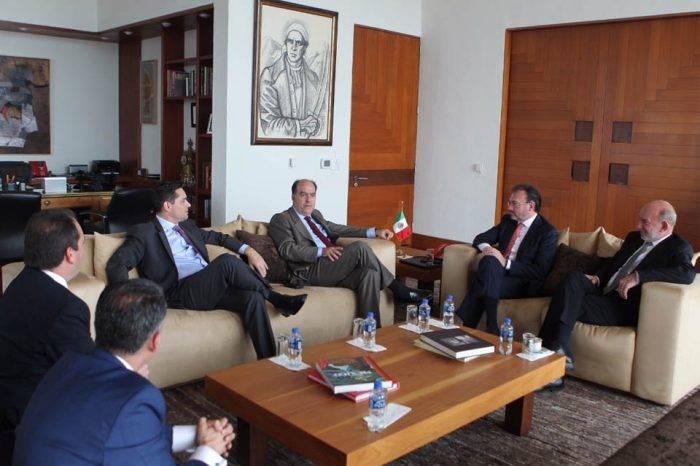 Borges, Vecchio y Guanipa se reunieron con el canciller de México