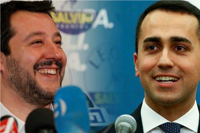 Matteo Salvini-LN y Luigi Di Maio-M5S. Foto: Reuters