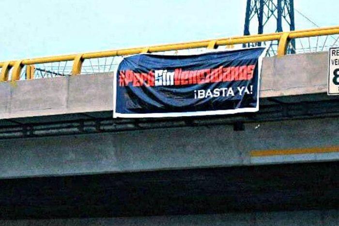 En Perú colgaron cartel contra los venezolanos