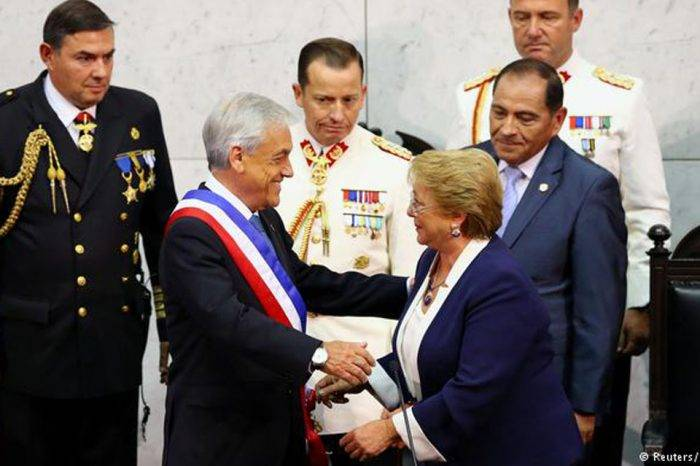 El conservador Sebastián Piñera jura como presidente de Chile