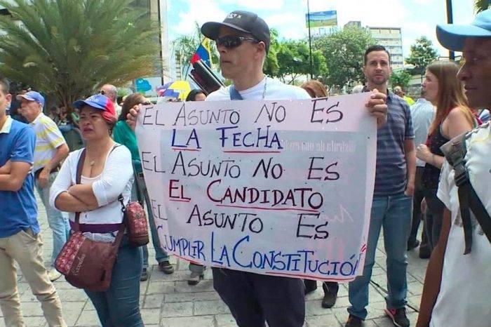 Protesta no elecciones. Foto: