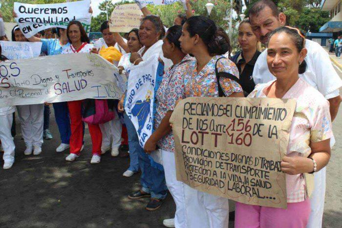En hospital de Bolívar aseguran que la mayoría de personal va a trabajar con hambre