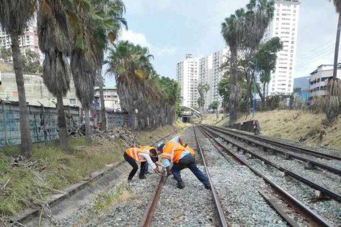 mantenimiento rieles Metro de Caracas