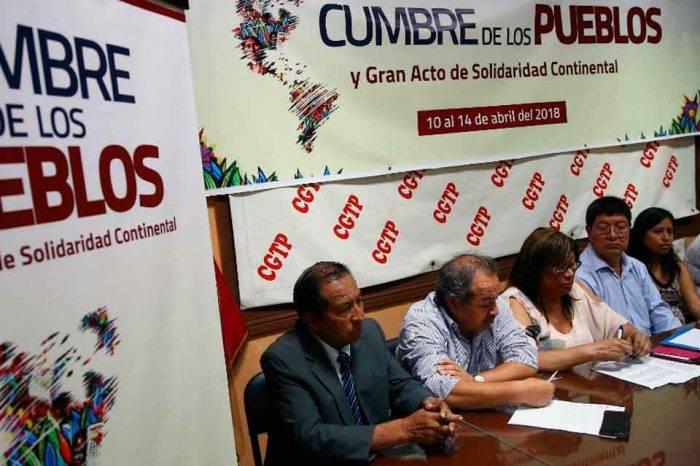 Movimientos sociales inauguraron en Perú la Cumbre de los Pueblos