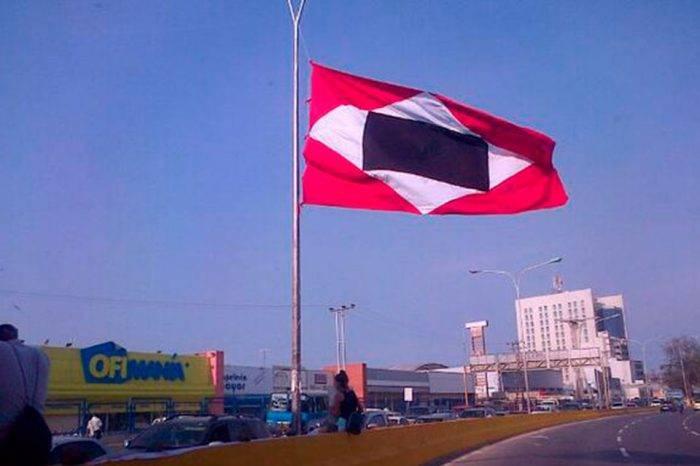 Bandera de guerra a muerte. Foto: Twitter