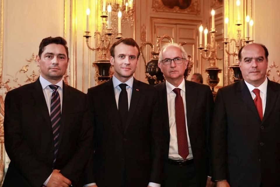 Julio Borges Antonio Ledezma Emmanuel Macron Carlos Vecchio