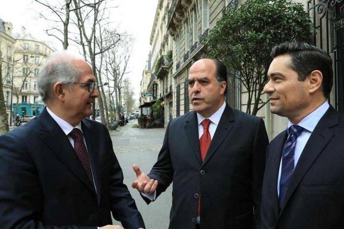 Borges y Ledezma se reúnen en Francia para solicitar más sanciones a la UE