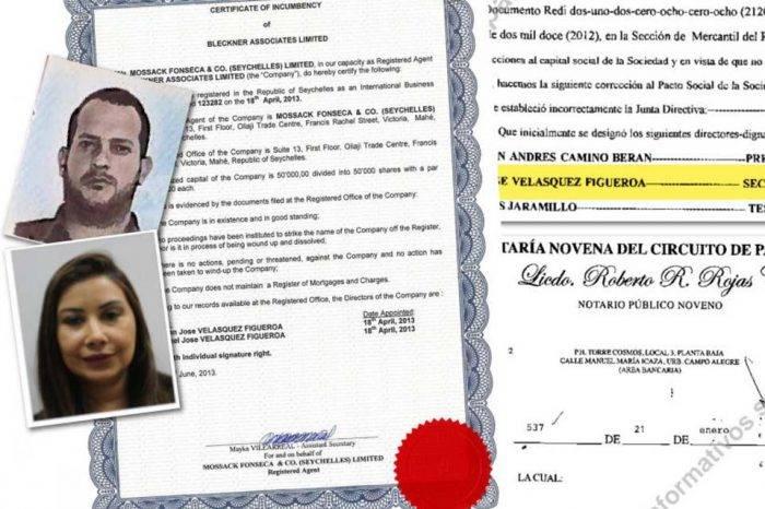 Claudia Díaz Guillén Adrián Velásquez Panamá Papers