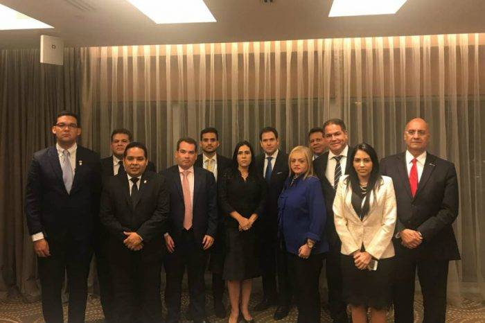 Parlamentarios venezolanos se reúnen con Marco Rubio en la Cumbre de las Américas