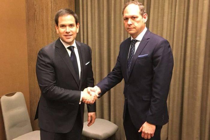 TSJ en el exilio se reunió con Marco Rubio para tratar corrupción en Venezuela