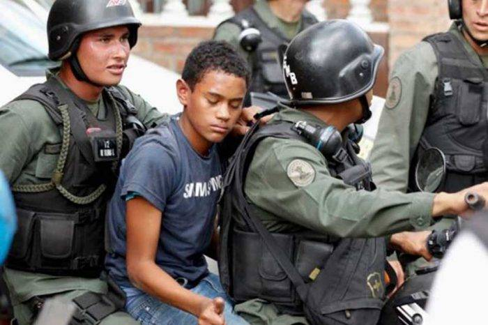 Menores de edad detenidos protestas 2017