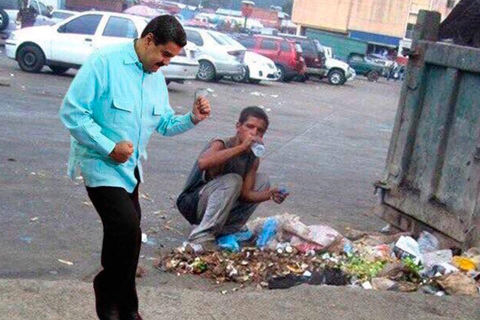 Nicolás se burla del hambre. Foto: NotiCensura