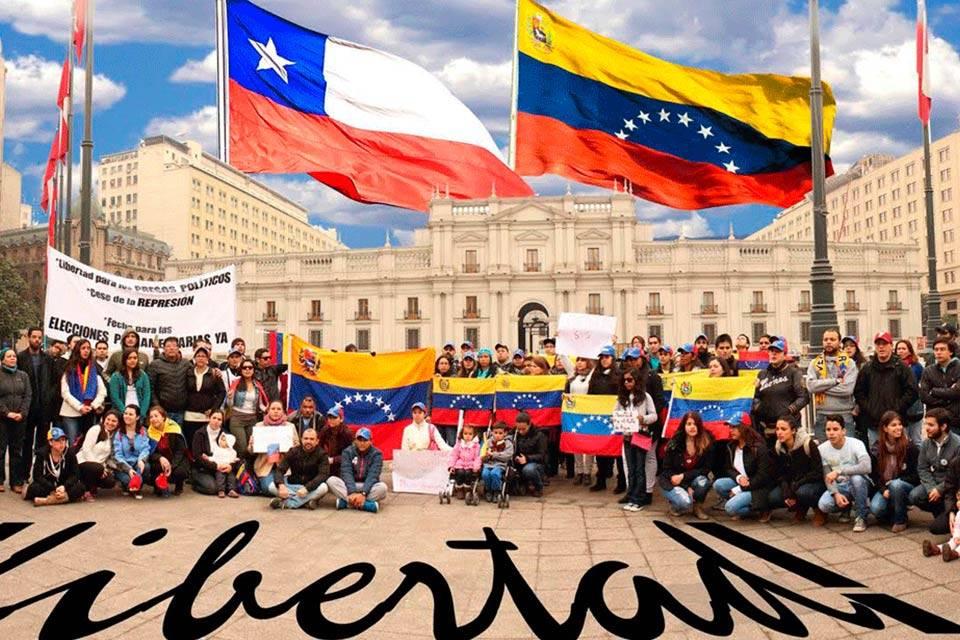 Venezolanos en Chile. Foto referencial