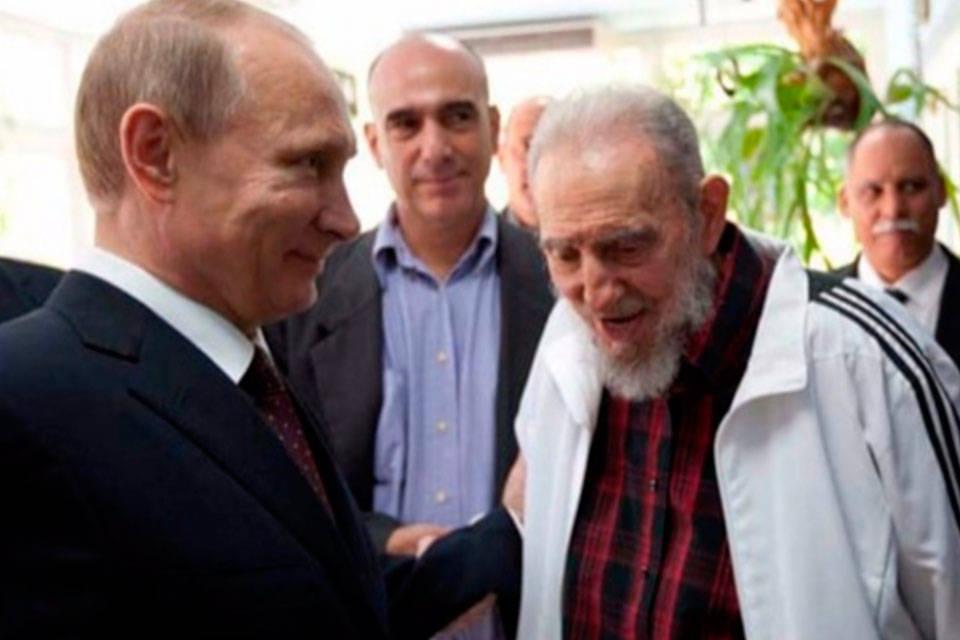 Vladimir Putin y Fidel Castro. Foto: Rpp Noticias