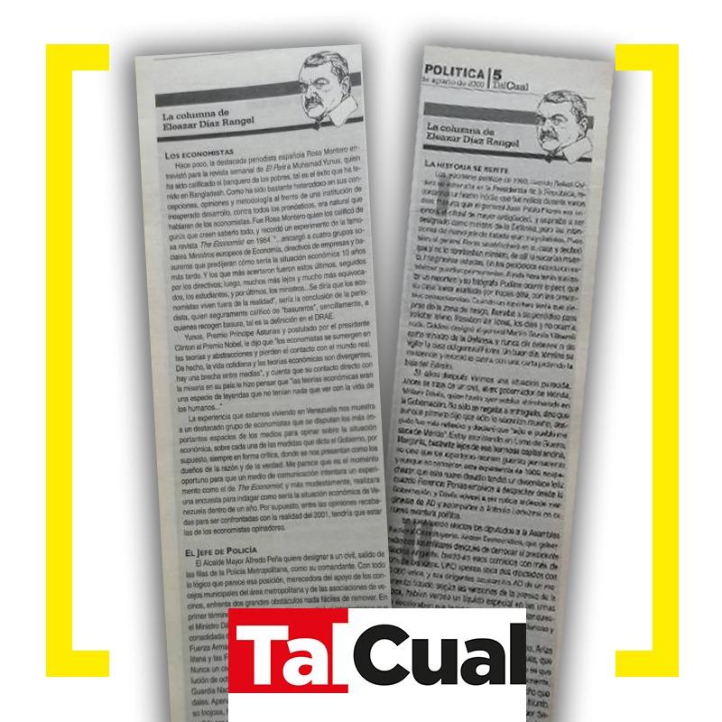 Columna de Eleazar Díaz Rangel