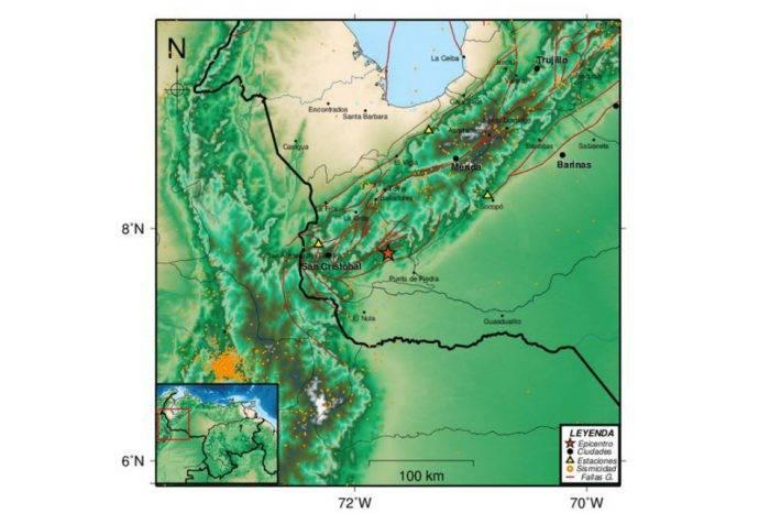 Sismo de magnitud 4,7 se registró en Punta de Piedra, estado Barinas