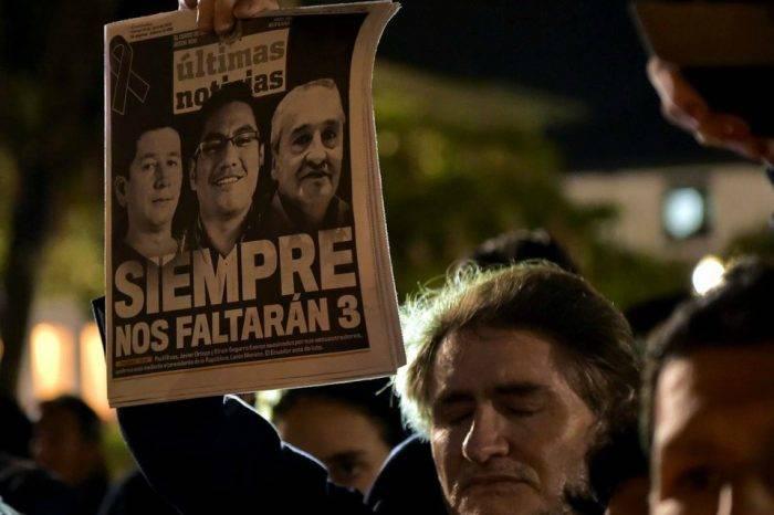Asesinos de periodistas ecuatorianos suspenden entrega de los cuerpos