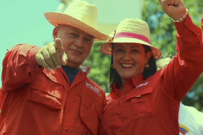 Diosdado Cabello y MarlenyContreras